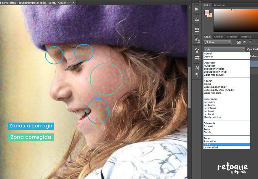 Cómo corregir tonos con los modos de fusión de Photoshop