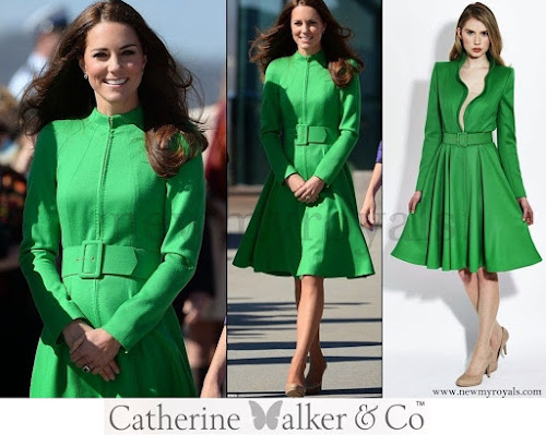 Catherine Duchess Cambridge wore Catherine Walker coatdress