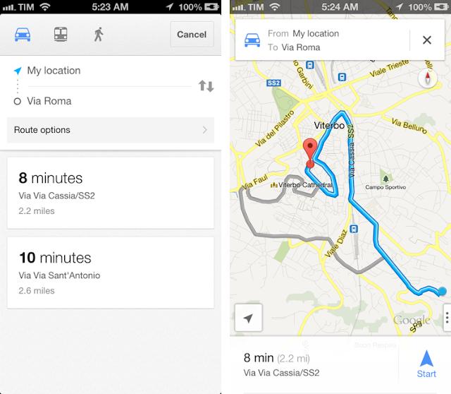 Google maps; aplikacja; app; travel app