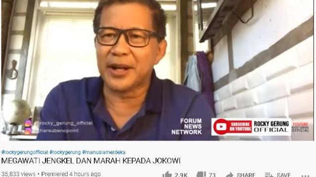 Rocky Gerung Sebut Jokowi-Mega Ada Ketegangan: Seperti Anak Nakal pada Ibu