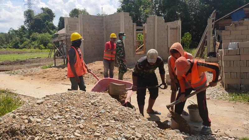 Zidam Berpartisipasi Bangun  Mushola As Syifa  Di Dusun Mabak Molo Desa Tiga Berkat