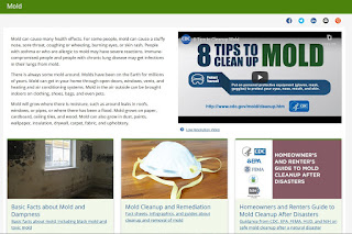 Centers for Disease Control page with information on mold https://www.cdc.gov/mold/