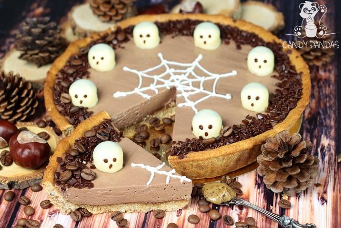 Tarta sernikowa na Halloween (bez glutenu i cukru białego)