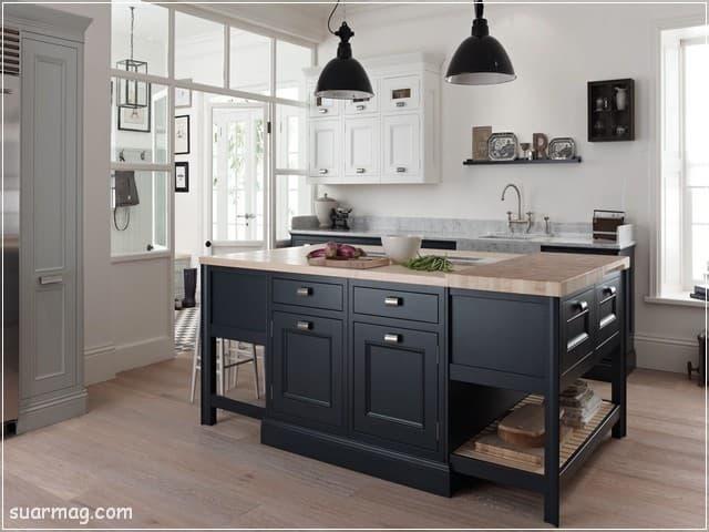 اشكال مطابخ خشب 15   wood kitchens shapes 15
