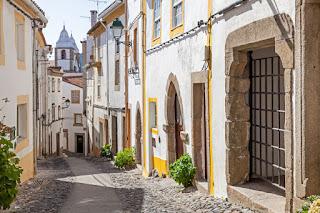 Santa Maria street in Castelo de Vide, Alentejo