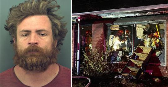 Man 'sets his house on fire killing his brother and injuring his 82-year-old mother'