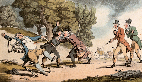 The dance of death: the duel by T Rowlandson (1816) Wellcome Collection