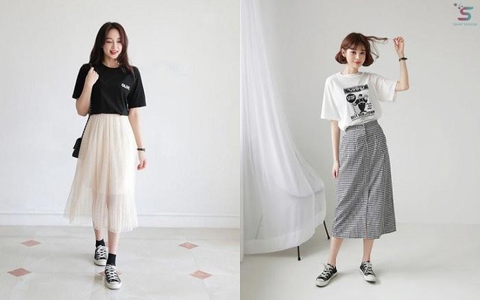 Mùa hè mix đồ với chân váy dài vừa đẹp lại vừa trendy!
