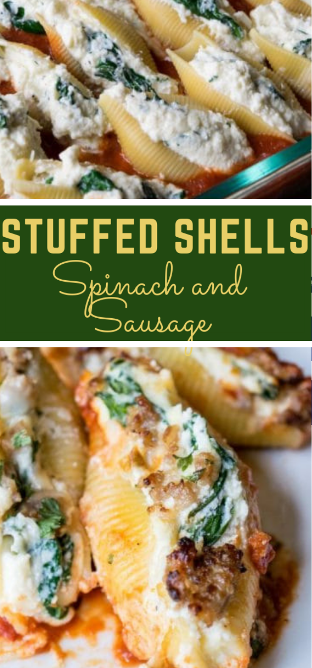 STUFFED SHELLS RECIPE WITH SPINACH #dinner #spinach #recipe #lunch #delicious