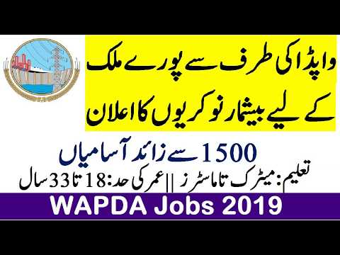 WAPDA New Jobs 2019 Apply Online