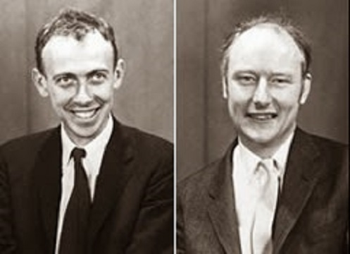 Francis Crick e il collega James Watson
