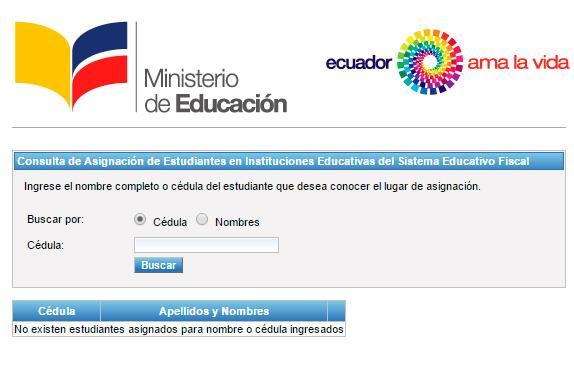 juntos.educacion.gob.ec Consultar Asignación de Cupos Costa 2017 2018
