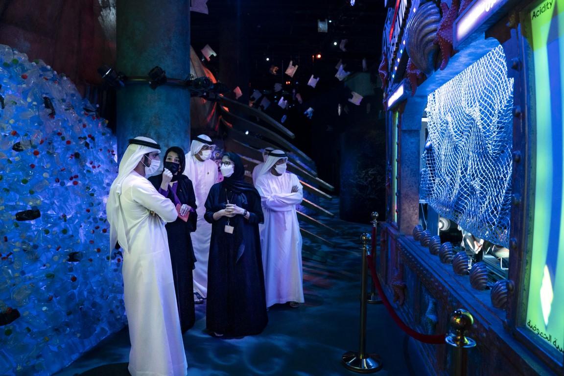 Sheikh Hamdan visits Expo 2020 Dubai site