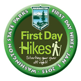 First Day Hike 2015 Souvenir Button