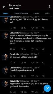 Kumpulan tweet apa adanya dzawin Nur