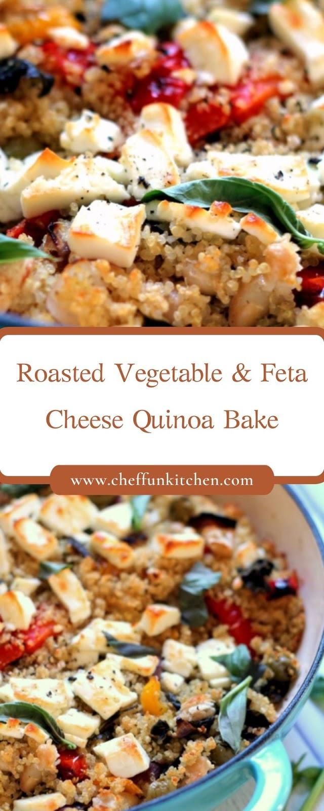 Roasted Vegetable & Feta Cheese Quinoa Bake