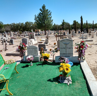 outdoor carpet and john deere theme of grave