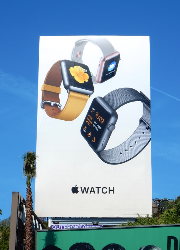 Giant Apple Watch 2nd wave billboard
