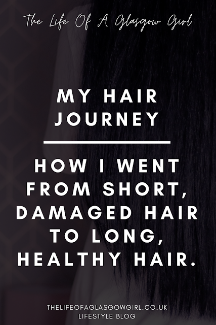 Pinterest Image for My Hair Journey - From short, damaged hair to long, healthy locks