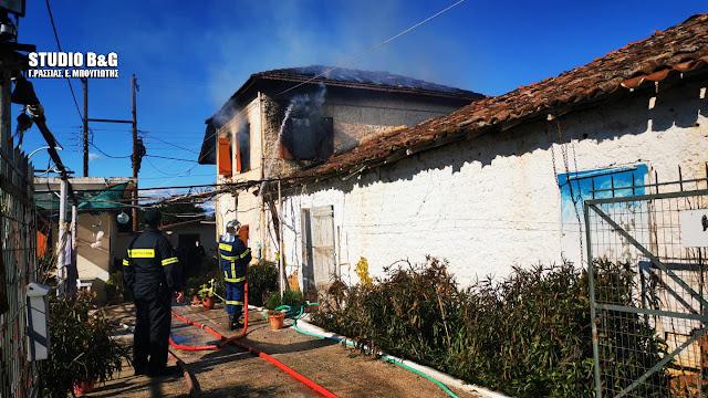 Πυρκαγιά σε σπίτι στη Νέα Τίρυνθα Αργολίδας