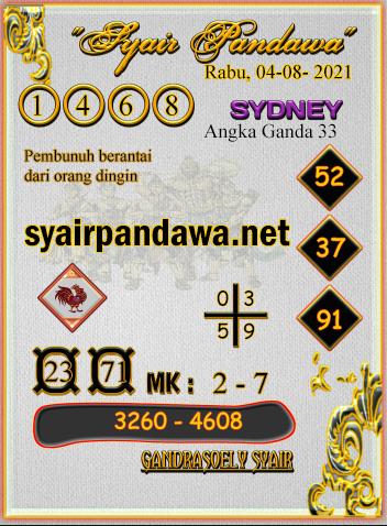 Gambar Syair Pandawa Sidney rabu 04 agustus 2021