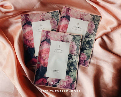 Review Halloasis Brightening Hill Sheet Mask
