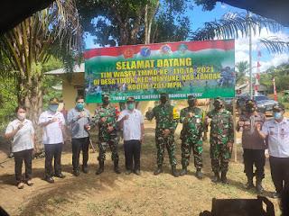 Kapolsek Menyuke Mendampingi Tim Wasev Mabes TNI Peninjauan Kegistan TMMD