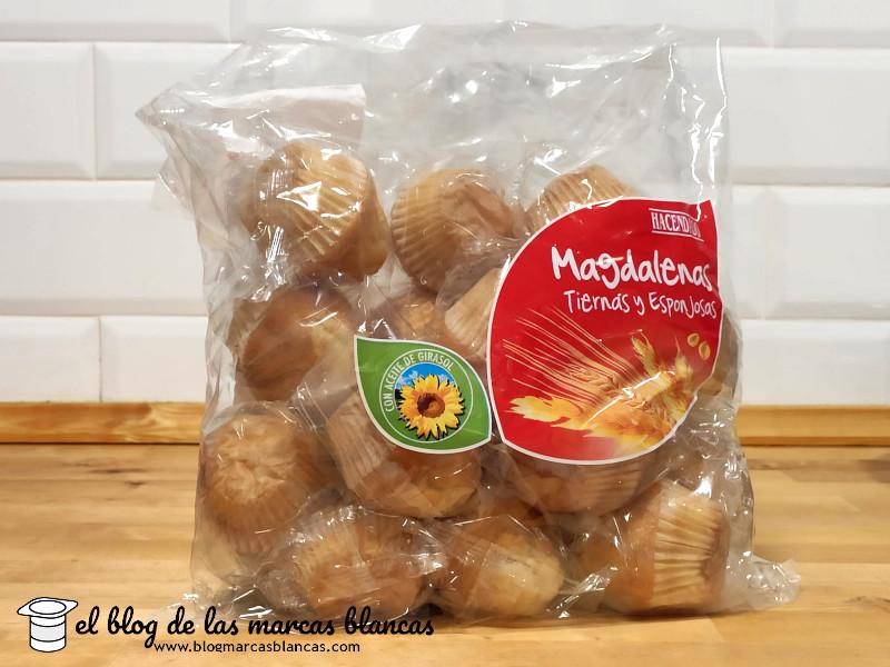 Magdalenas tiernas y esponjosas HACENDADO (Mercadona) en El Blog de las Marcas Blancas.