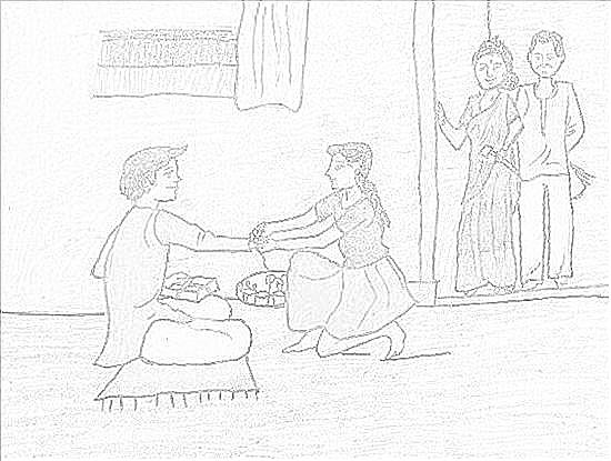 Rakhi Drawing
