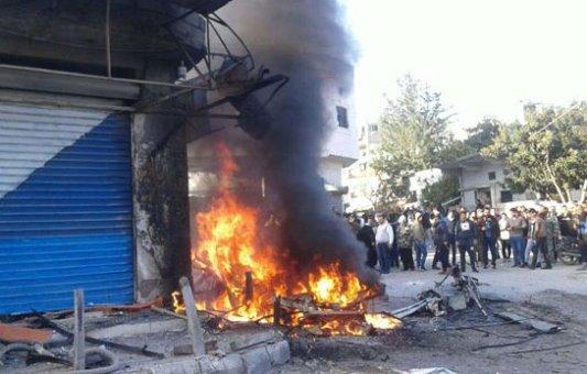 تفجير إرهابي بسيارة مفخخة في اللاذقية يودي بحياة شخص وإصابة 14 أخرين