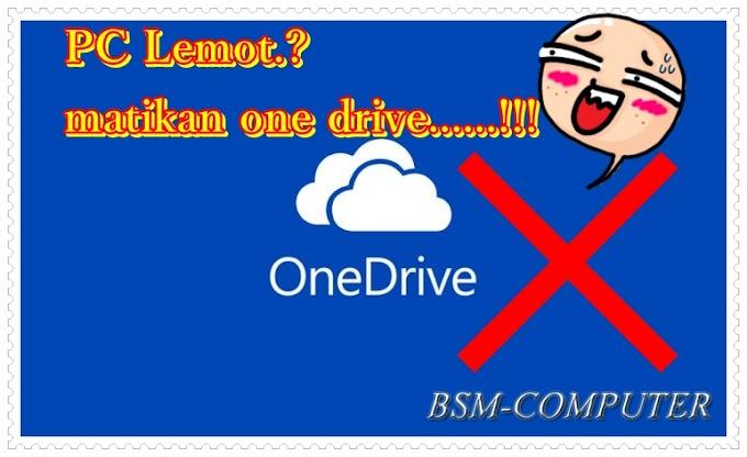 SUKSES - Cara Uninstall atau Mematikan Menu OneDrive pada Windows 8.1 atau Windows 10