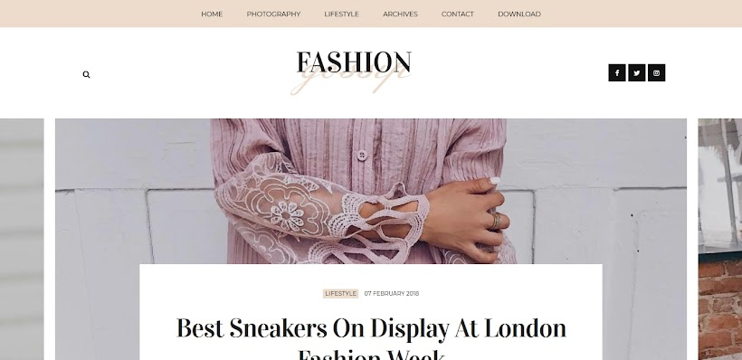 Fashion Gossip Free Blogger Template