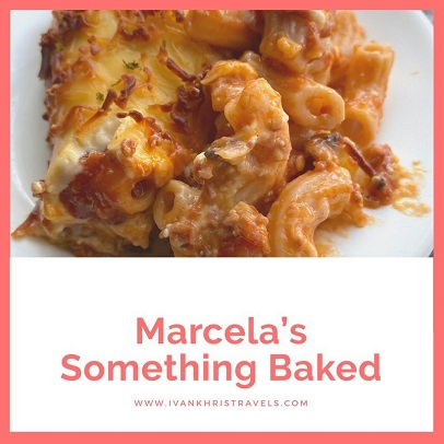 Marcela's Something Baked's cheesy baked beef macaroni