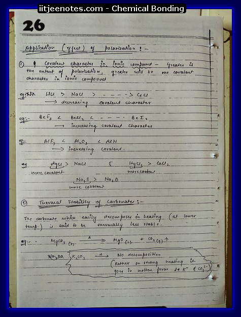 Chemical Bonding Notes IITJEE 2