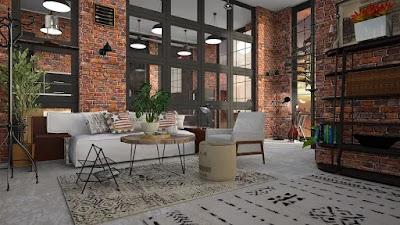 loft-mattone-arredamento-stile industriale