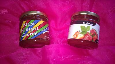 Nuss Nougat Creme und Erdbeer Marmelade mit Xylit