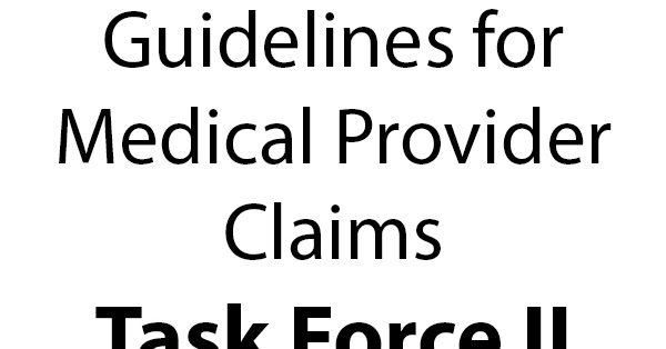 Workers' Compensation: Guidelines for Medical Provider