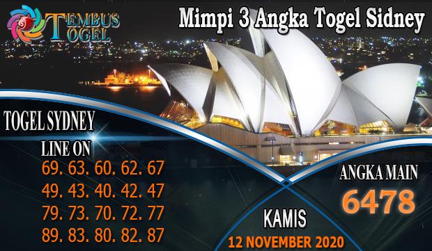 Mimpi 3Angka Togel Sidney Hari Kamis 12 November 2020