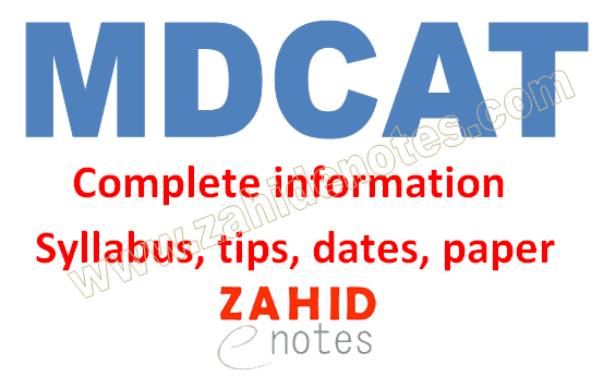 MDCAT registration date, paper, 2020 tips and syllabus
