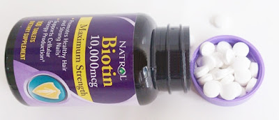 Isi Capsule Natrol Biotin 10.000 Mcg Vitamin Suplemen B7 100 Tablet