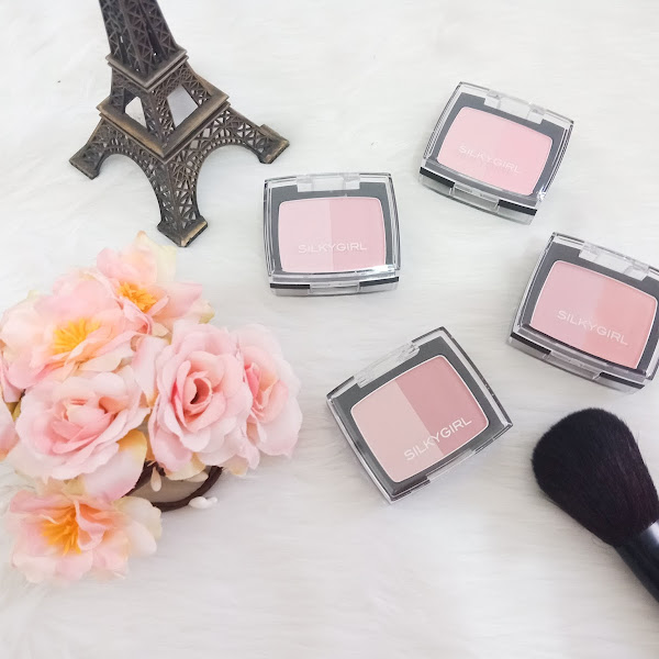 Silky Girl Duo Shimmer Blushers - Swatches and Review