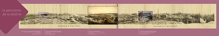 Gravure du panorama de la bataille de Champigny