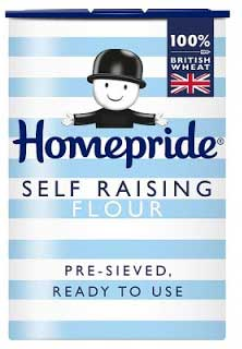 A box of self raising flour
