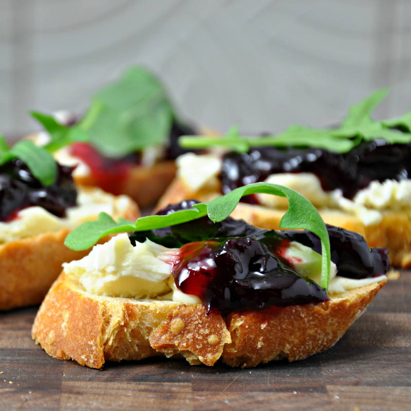 cheese and preserves go together perfectly as paired on this toastini