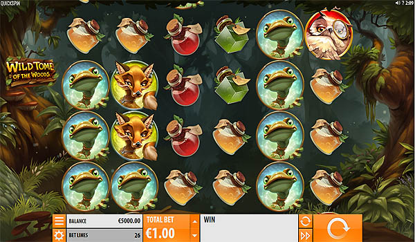 Main Slot Gratis Indonesia - Wild Tome of the Woods (Quickspin)