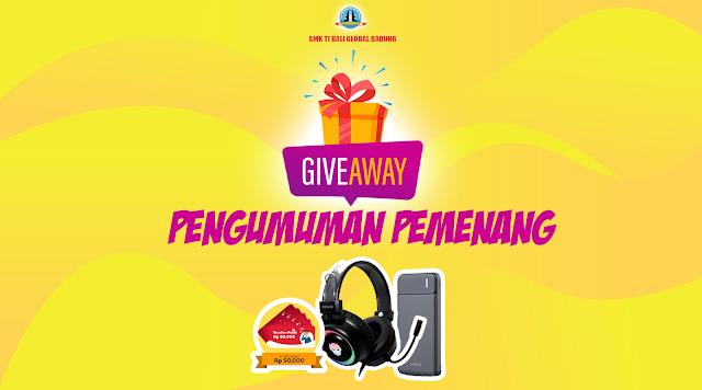 Pengumuman Pemenang Giveaway SMK TI Bali Global Badung - Ai Gadget Service