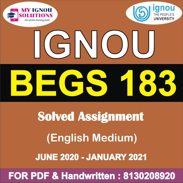 BSOS 184 Solved Assignment 2020-21