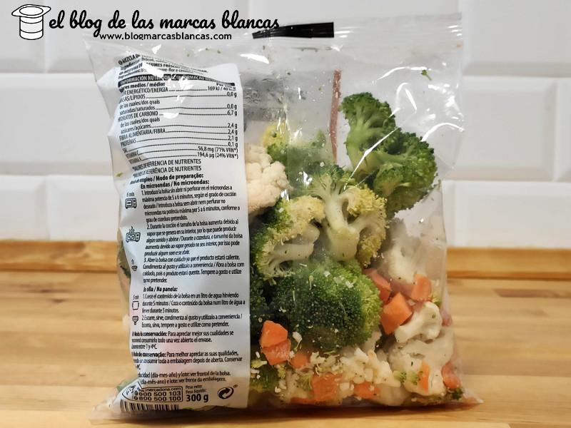 3 vegetales lavados (brócoli, coliflor y zanahoria) para microondas HACENDADO FRESH (Mercadona) en El Blog de las Marcas Blancas (www.blogmarcasblancas.com)
