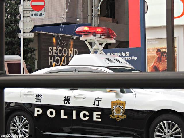 Coche de Policía en Tokio, Japón