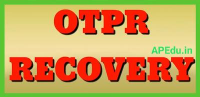 DEPARTMENTAL TESTS   OTPR RECOVEERY  OTPR REPRINT